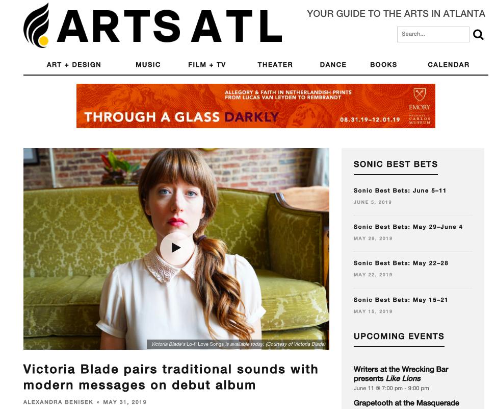 Victoria Blade - ARTS ATL - DIY Music PR