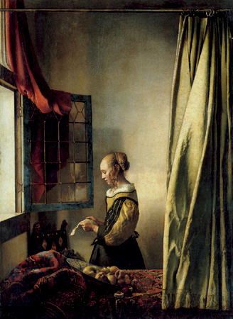 Johannes Vermeer,  Girl Reading a Letter by an Open Window , 1657
