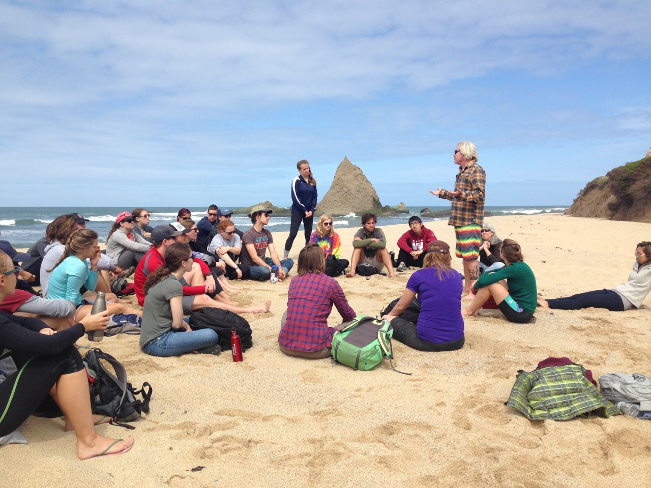 Stanford Law Class on Martins Beach May, 2018
