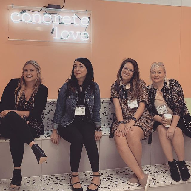 Our Founder @amstams had so much fun with @f2designsf yesterday at #neocon2019 exploring the design elements of #commercialrealestate • She came away with new aesthetic ideas for the office - just in time for some exciting #coordinateproperties news about to be released soon!