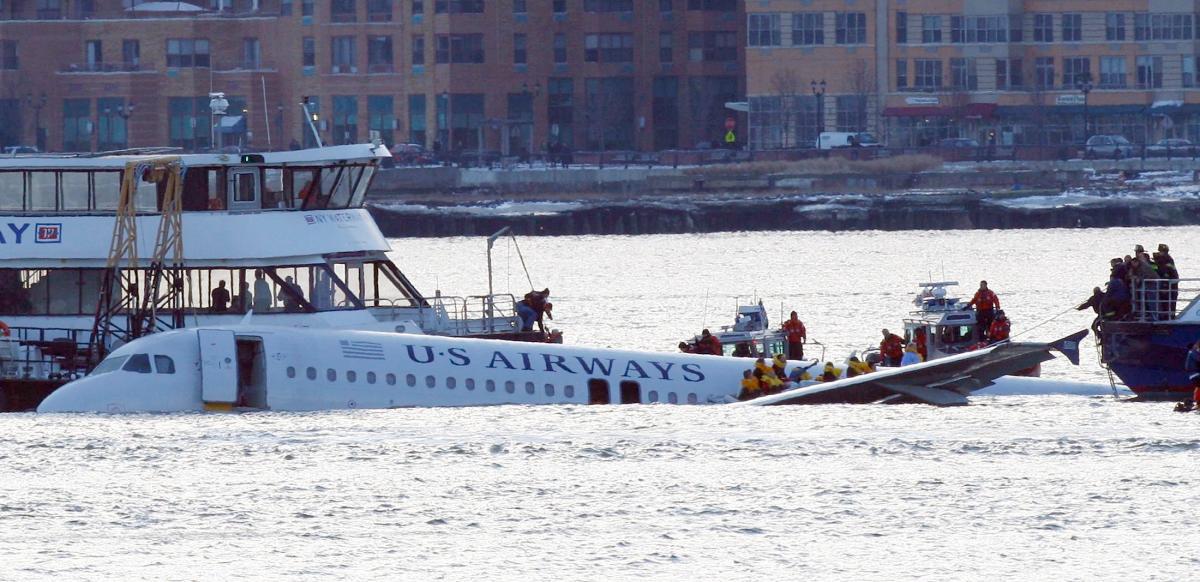 US Airways Flight 1549, photo via  nydailynews.com .