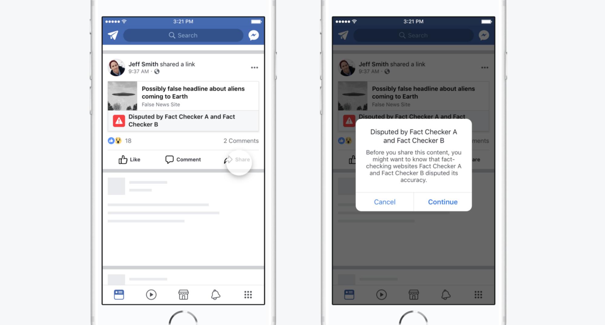 Facebook designing against misinformation.