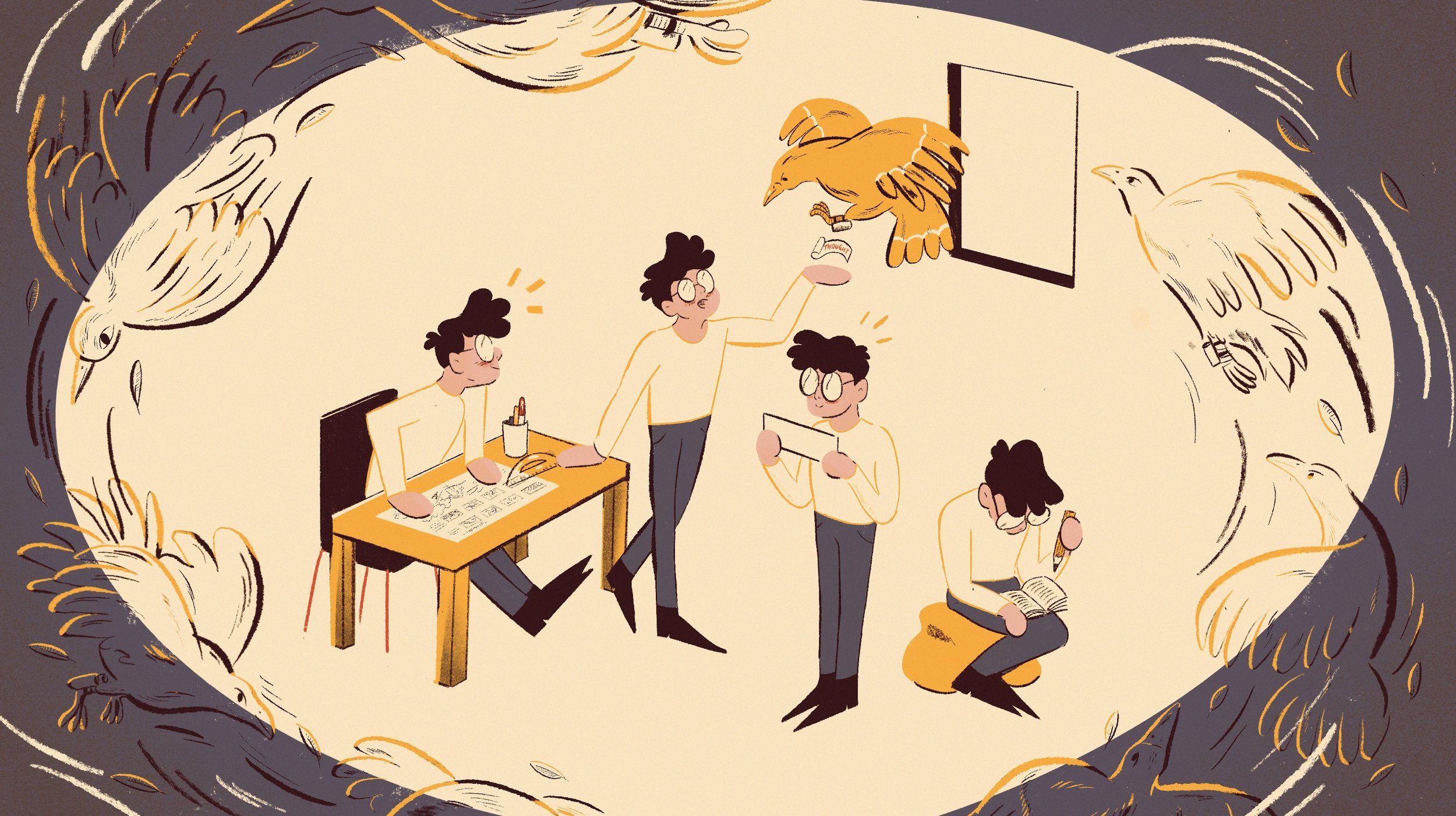 Illustrations by  Robbie Cathro  for this article.