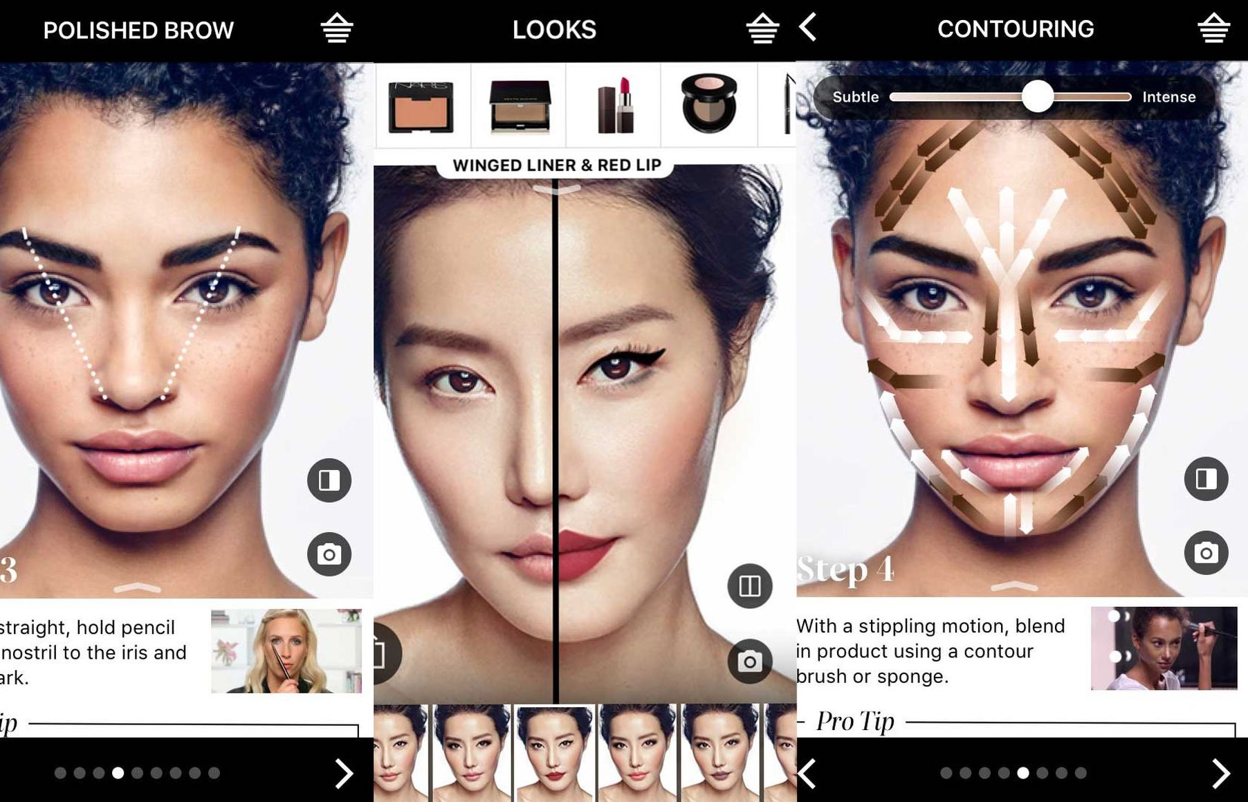 Sephora's virtual try-on tutorials