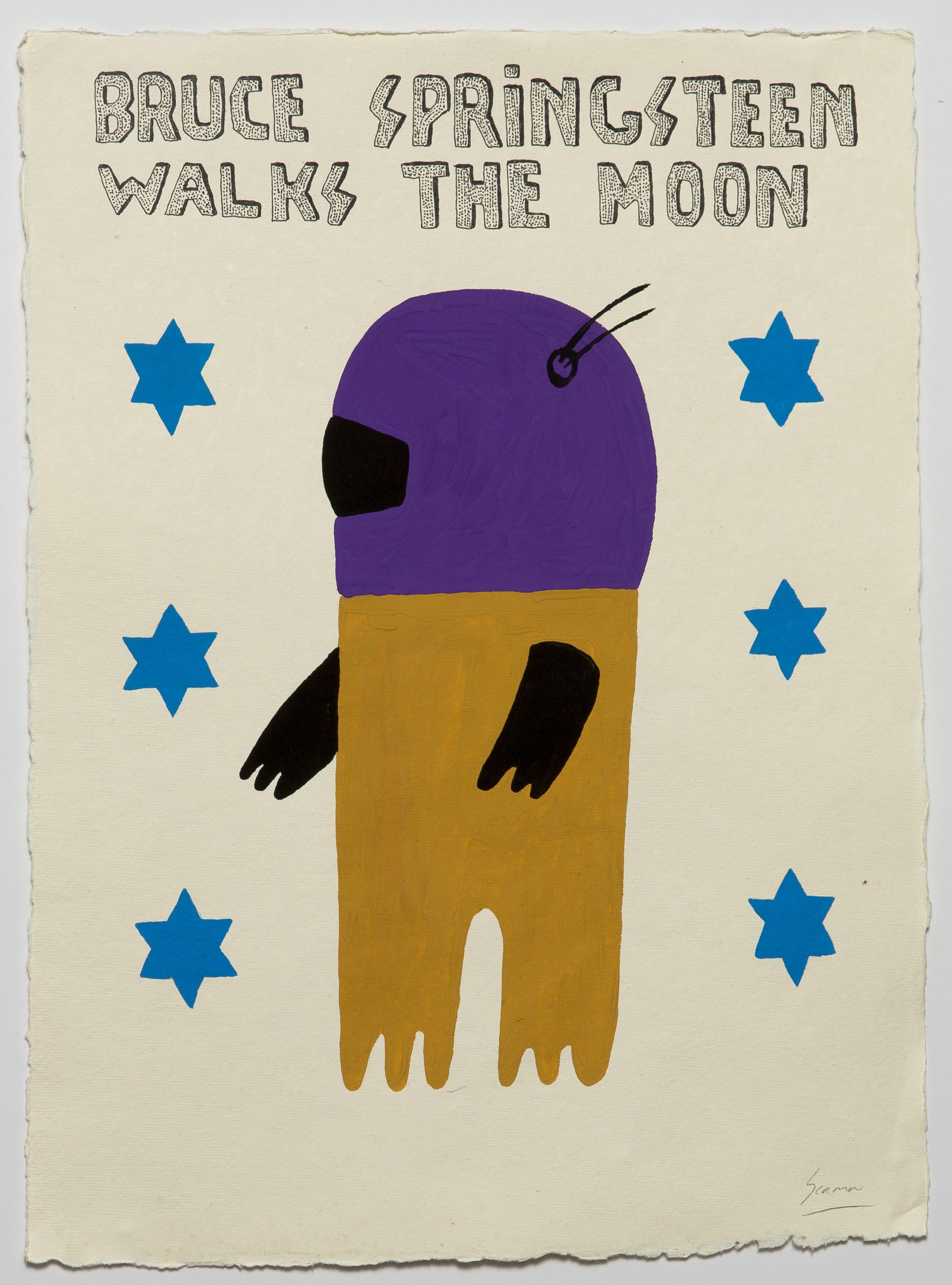 Brunce Springsteen Walks The Moon