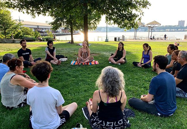 Thank you @hudsonriverpark  @the.path and everyone who showed up for last night's meditation 🙏🏼💫 it was an honor and pleasure to meet and sit with you.  Check out @caseywilliams.jpg next Tuesday and meditations every Tuesday at 6:30p this July at @hudsonriverpark facilitated by @the.path  #meditation #healthyonthehudson #nyc #nycmeditates #thingstodoinnyc