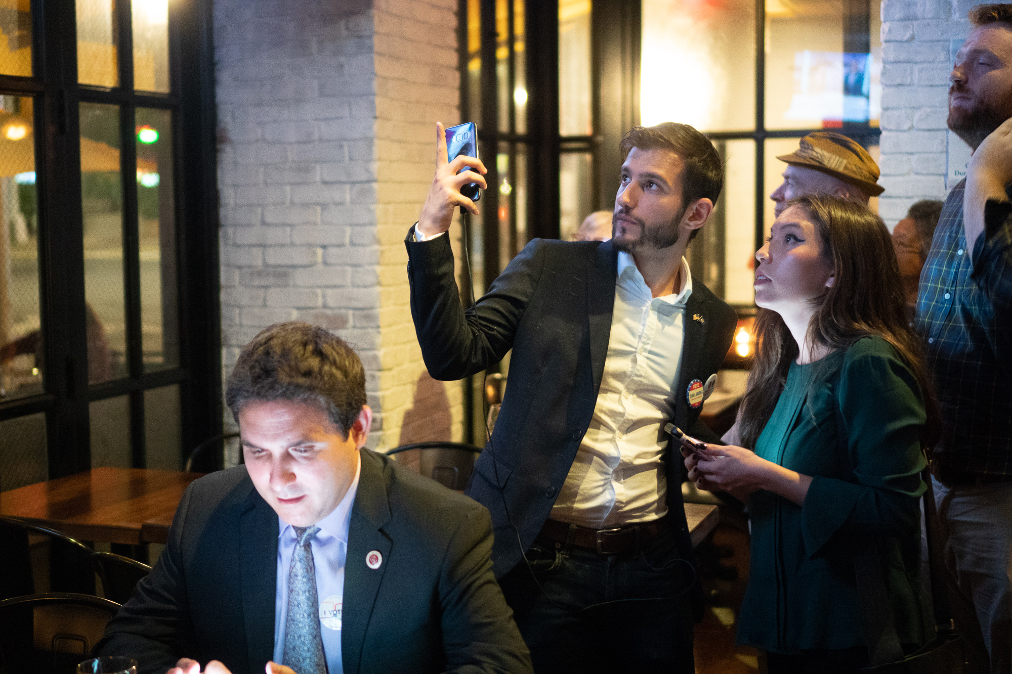 Democratic party memeber kept a close call as the primary results started to come in.