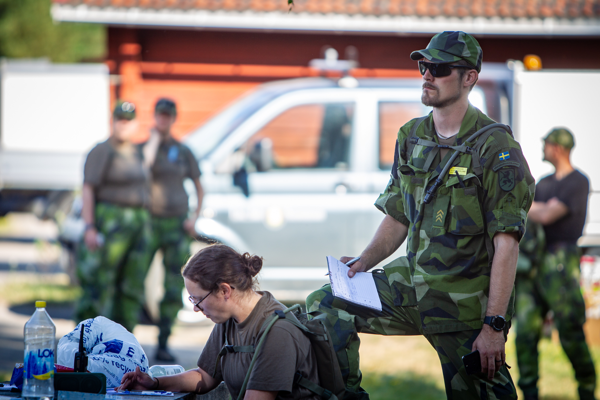 Hundreds of military personnel contributing to fire fighting efforts in Ljusdal, Sweden.