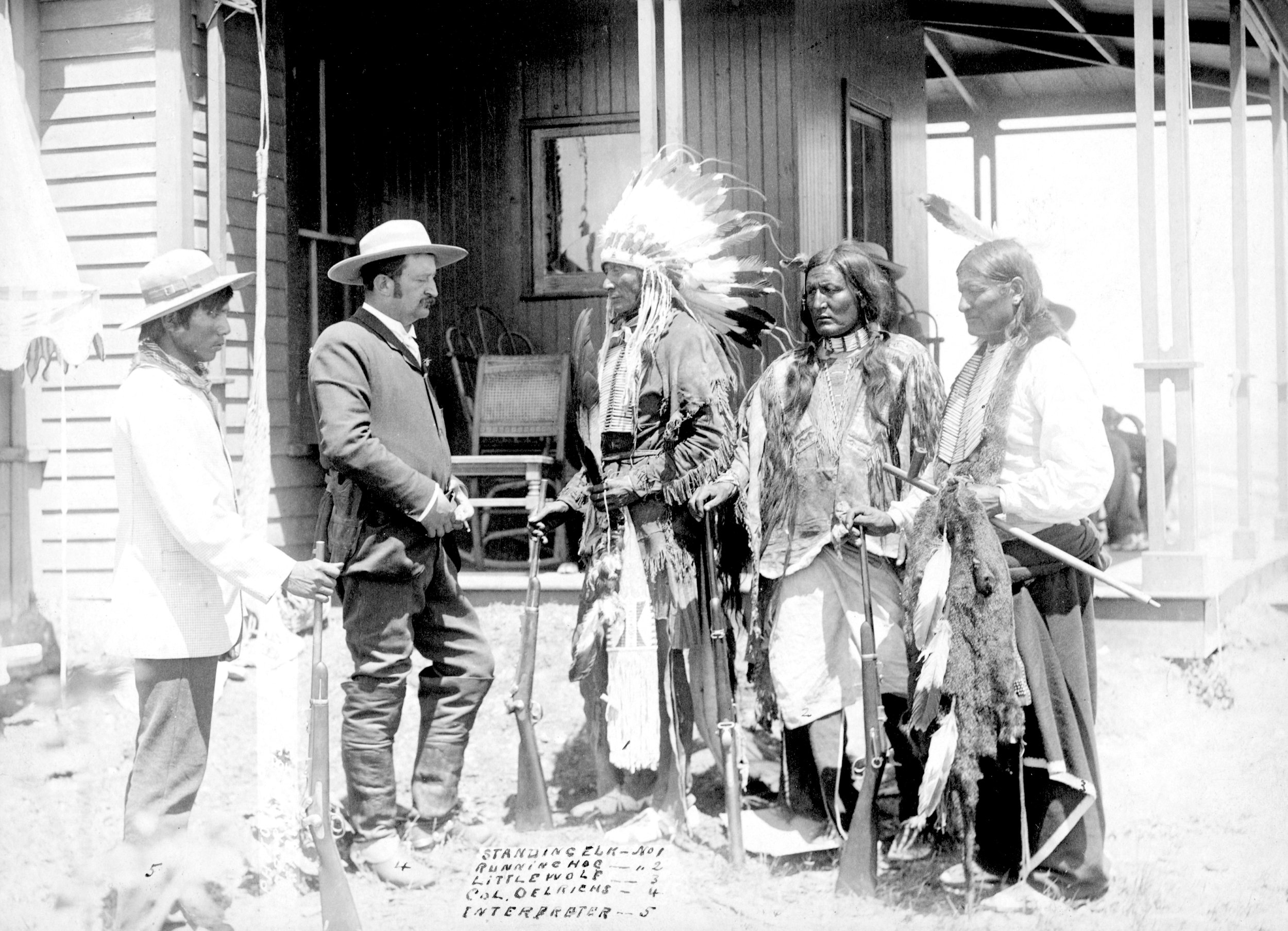 interpreter, colonel, and elder Indians