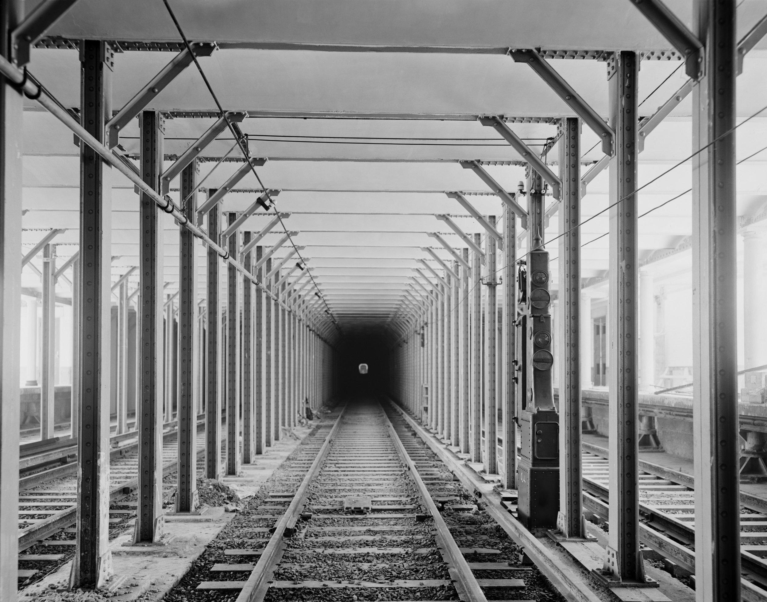 New York subway tracks and tunnel