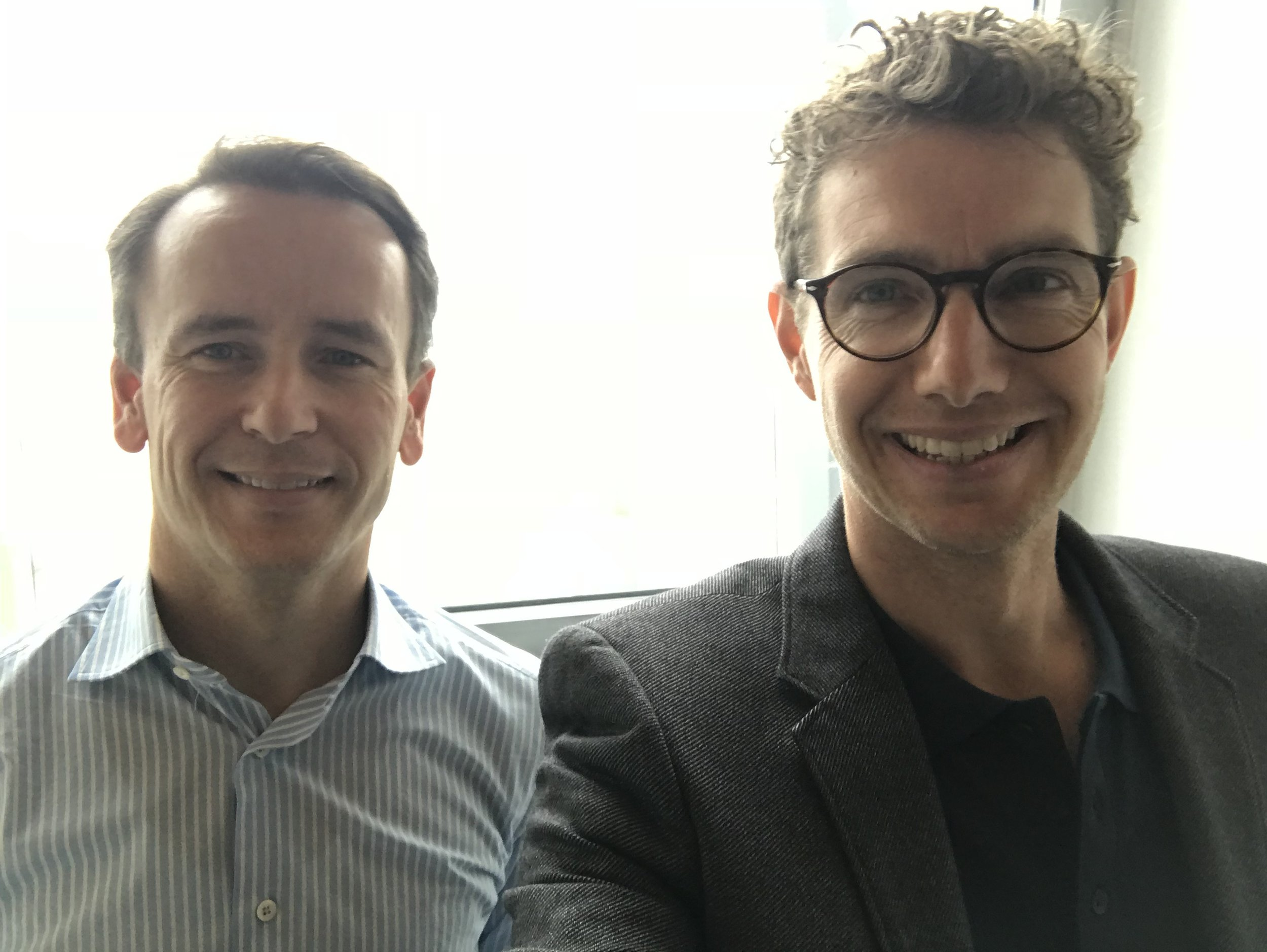 Joost de Graaf (left) and me after recording our conversation at the headquarters of Kempen in Amsterdam.