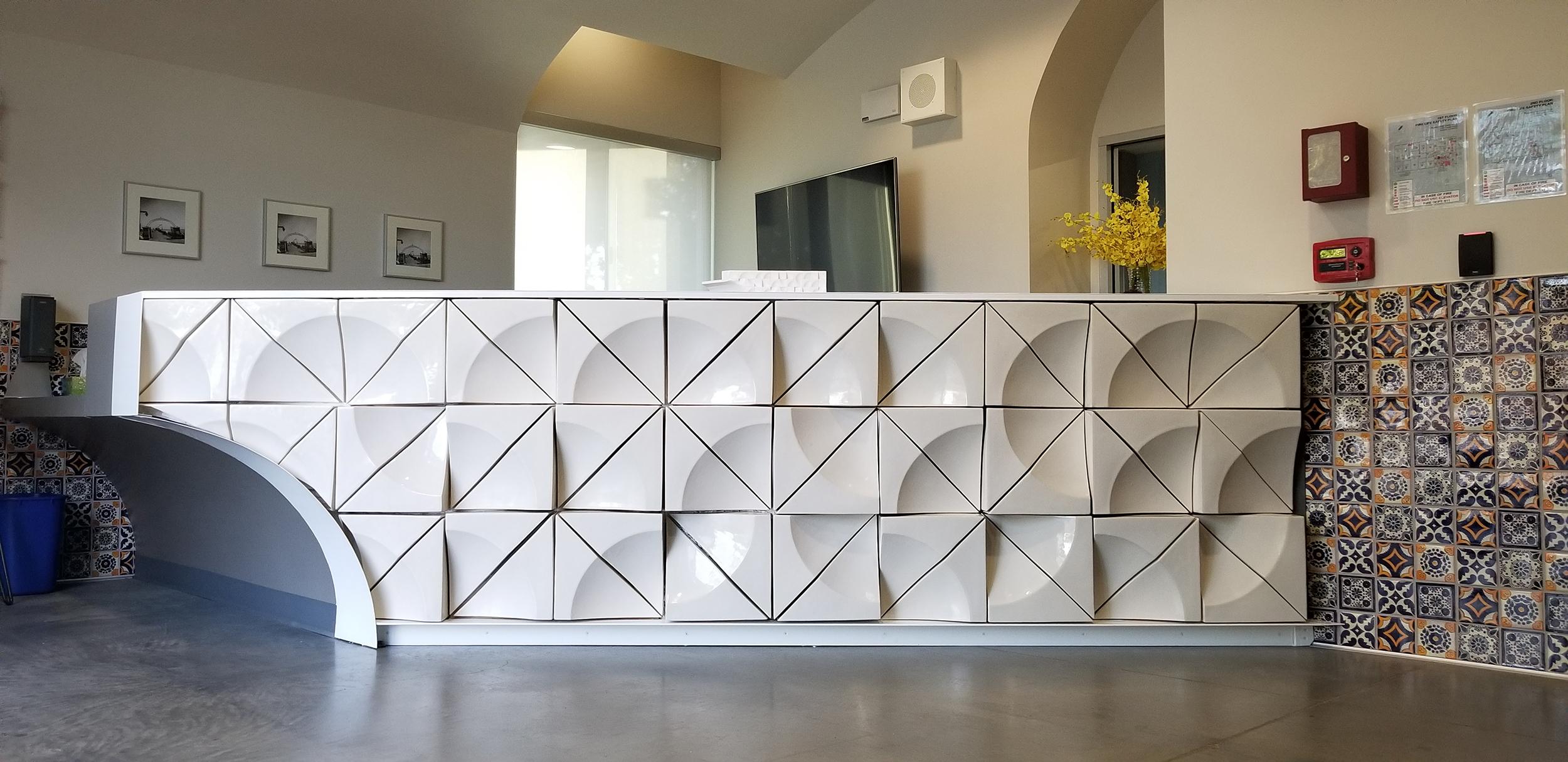 SLO Made reception desk