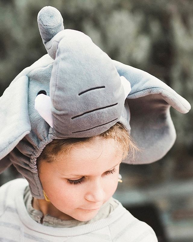 I love Halloween...but trying to figure out a costume always stresses me out and then I just end up having a friend dress me or not dressing up at all.  I should just buy an elephant hat and have it handy for dress up occasions! Problem solved!! Next year...✨🐘✨
