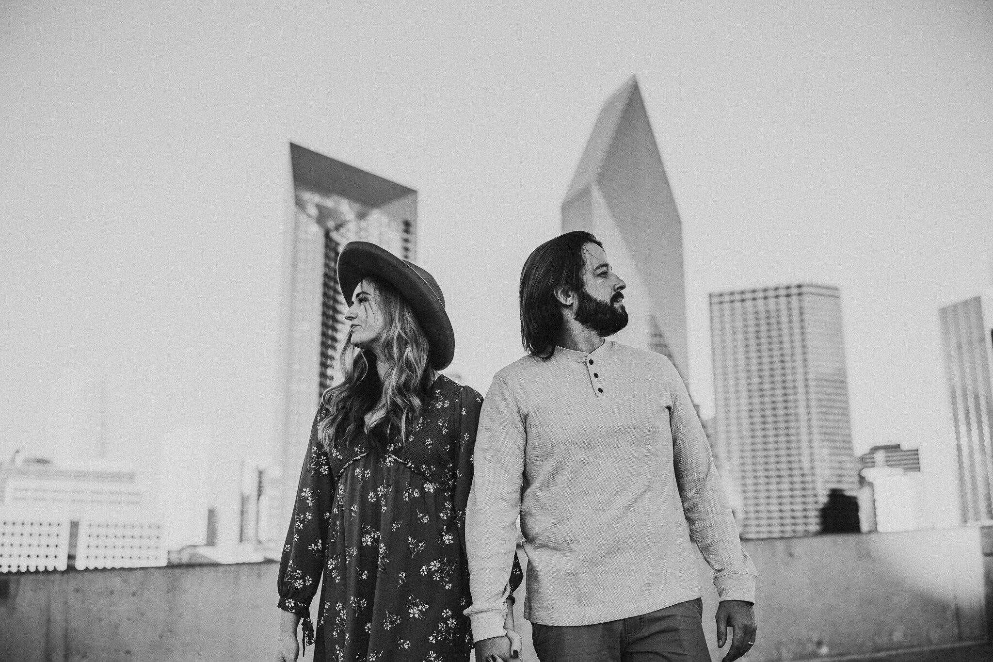 downtown dallas engagement photos
