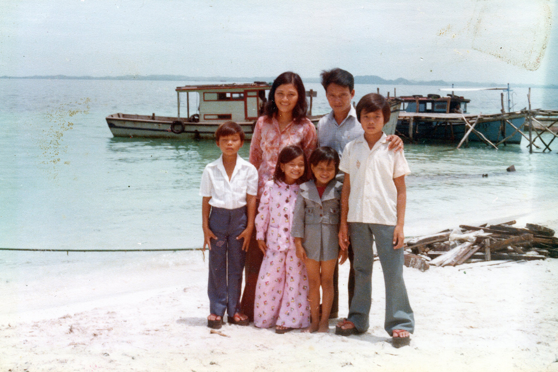 Karina with her family in Vietnam.