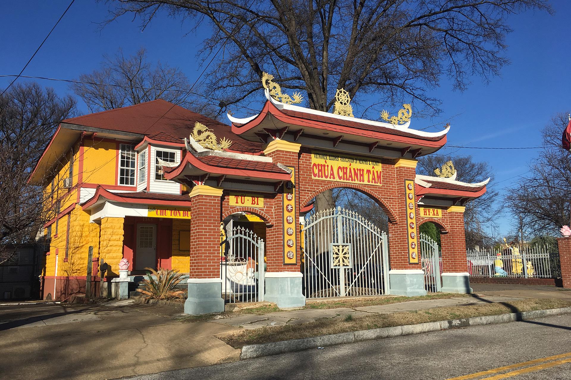 The Vietnamese Buddhist Temple on Jefferson.
