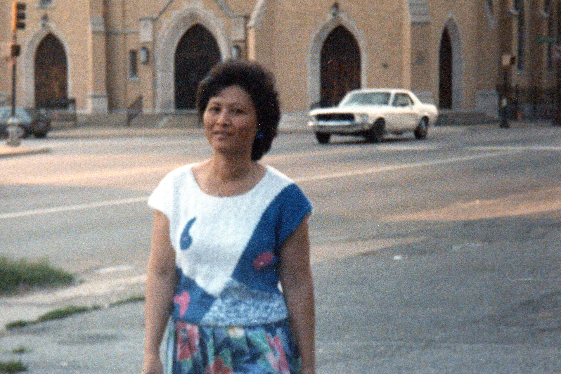 Karina's mother at Cleveland and Jefferson.