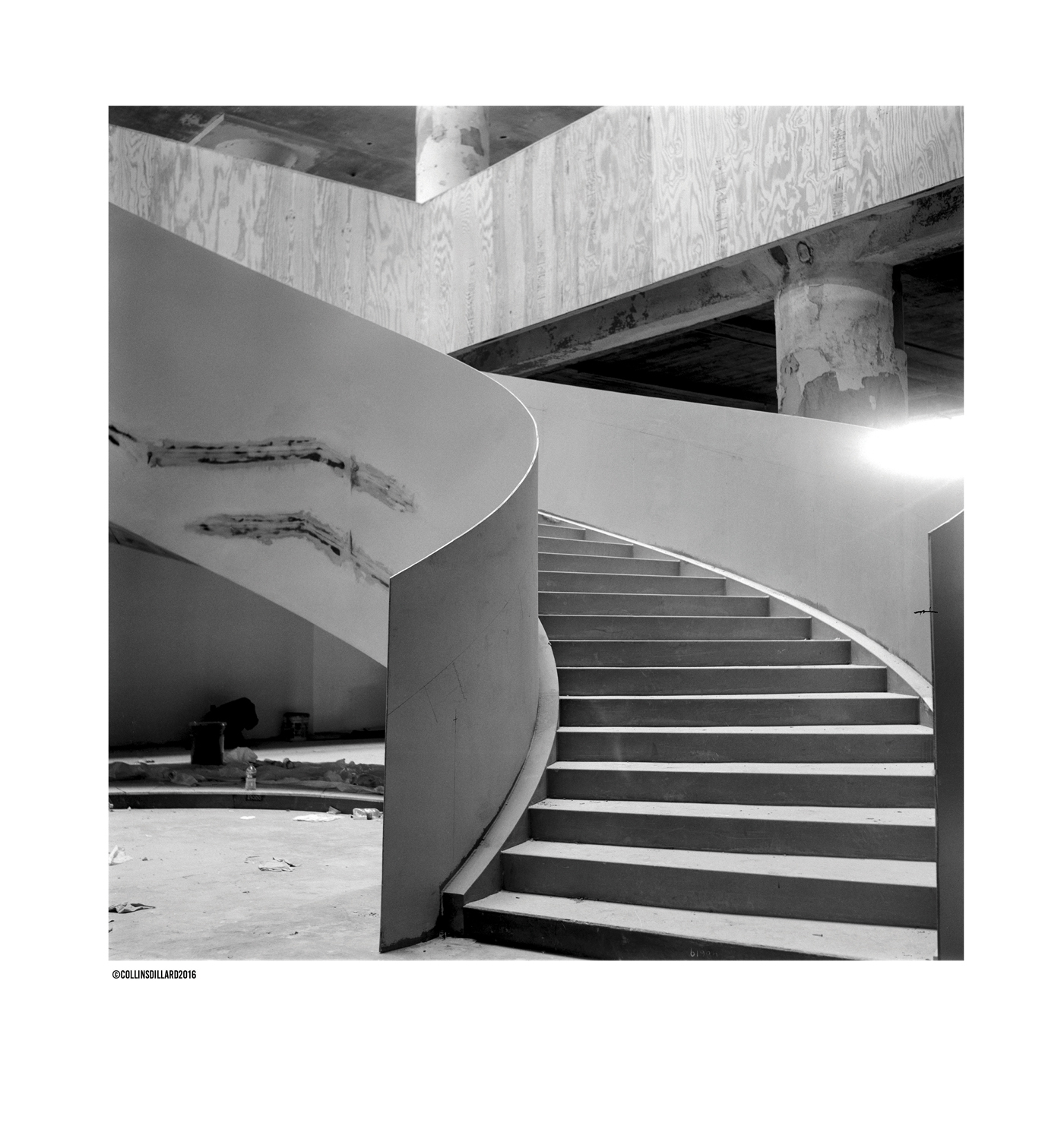 Spiral staircase: This winding set of stairs will lead you directly into the Crosstown Arts space.