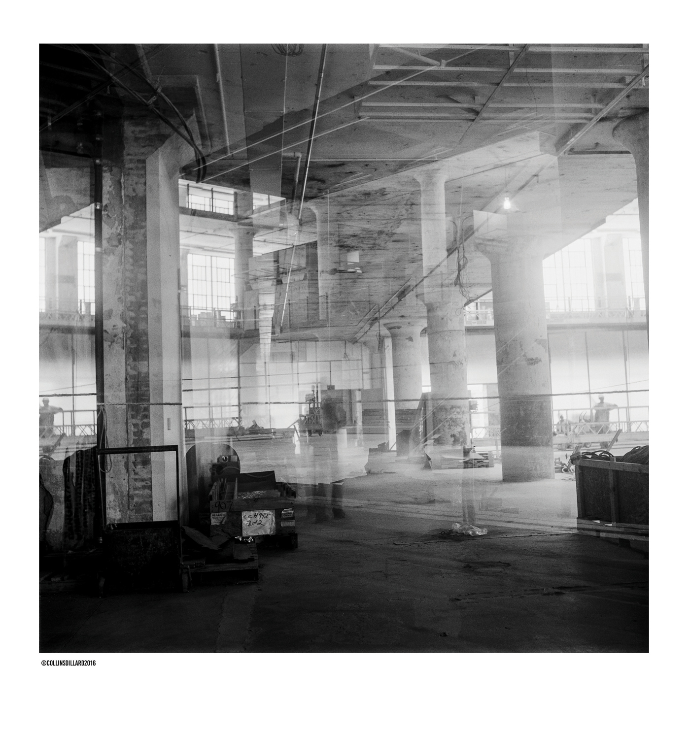 Other worldly: You can see here how large the columns are throughout the building. The columns are as sound as they were the day they were built.