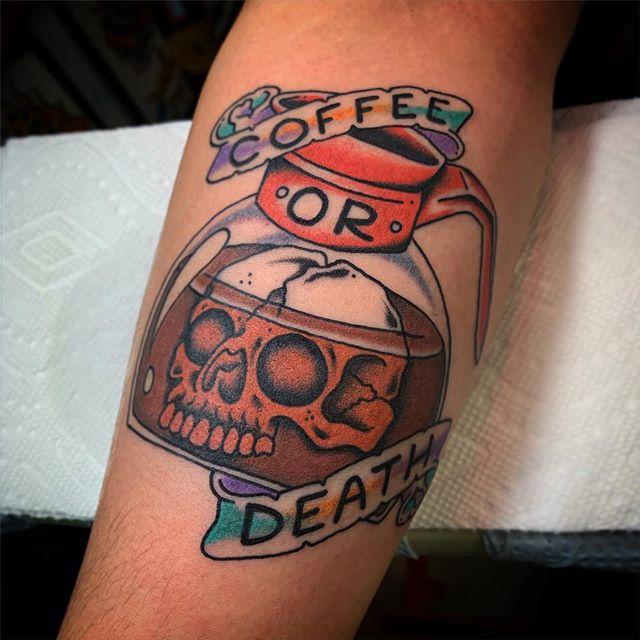 I'll take death. @elmstreettattoo . . . . #tattoos #dallas #dallastexas #elmstreettattoo #tattooflash #dfw #americanatattoos #tattoo #party #fun #goodtimes #dallastattoo #dfwtattoo #traditionaltattoo #colortattoo #blacktattoo #bright_and_bold #sailorjerry #classictattoo #tradtattoo #americantraditional #realtattoos #oldlines #elmstreet #deepellum #texas #texastattoo #dynamicblack #solidink #tattoos #vulcanneedles