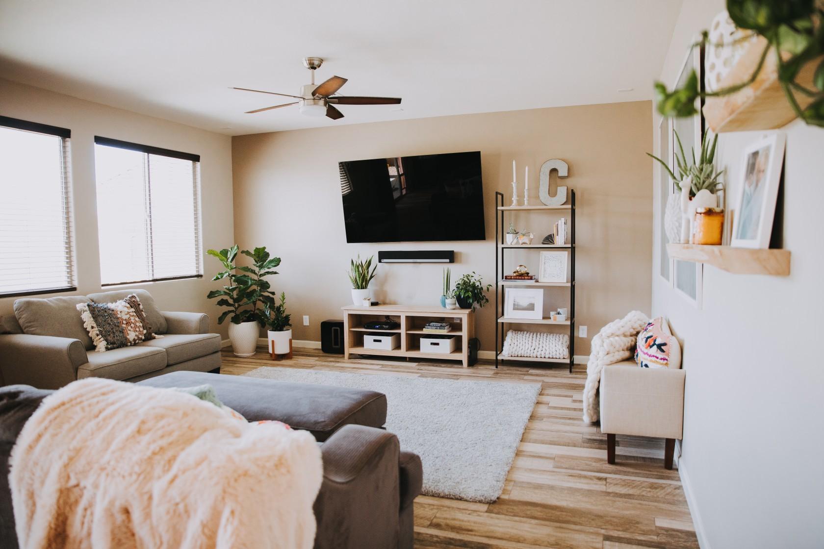 step 2— neutral rug -