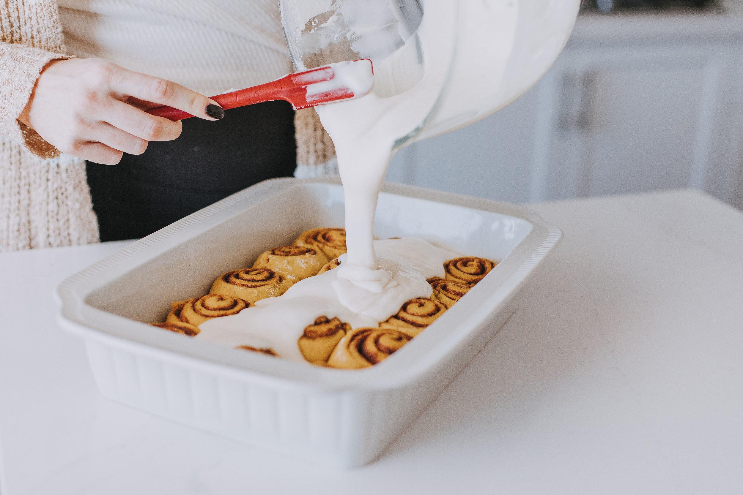 - Filling6 T softened unsalted butter½ C brown sugar1 T ground cinnamon½ tsp ground nutmeg½ tsp ground cloves¼ tsp ground allspice