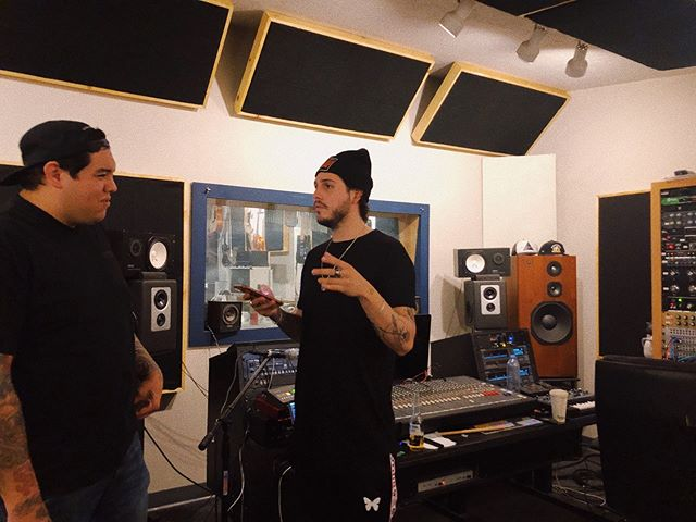 Creating w/ the homie @romeramirez today. Thanks @pepperlive for letting us crash your studio this week.