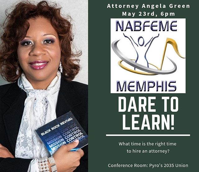 Setting the room for the next NABFEME Memphis Meet up! We'll be at Pryo's 2035 Union! Member Appreciation! Thank you to all of our new and renewed members! We'll break out for snacks and Sisterhood styled networking! Our Special Guest Speaker will be Attorney Angela Green! Do you know when your business needs an attorney??? Got legal issues?? Curb those legal traps!!! Don't miss this informative evening!  @adgreen2 #nabfeme20 #take20 #innovation #womensupportingwomen