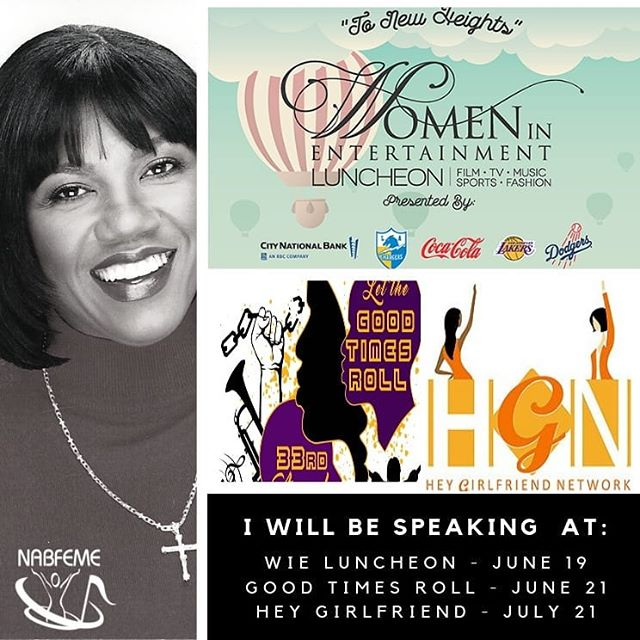 Recognizing we each travel on a journey where lessons are learned and we are blessed with the opportunity to share those lessons with others... I will be speaking at the Women In Entertainment Luncheon, Carson, CA June 14th; Let the Good Times Roll Festival Shreveport, LA June 21st, Hey Girlfriend Network Luncheon Los Angeles, July 21st ... and at every @nabfeme event on the planet!🤣🤣💕 @nabfemelosangeles @nabfemesf #nabfeme20 #itsamovement #speaker #wisewords #womensupportwomen #determination #take20 #goals
