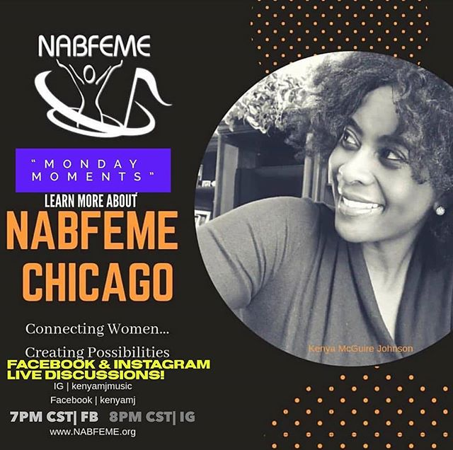 "TONIGHT 8pm/C!!! IG & FB LIVE..""Monday Moments"" with  #NABFEMEChicago Network Leader Kenya M. Johnson! Learn more about the Network, who we are, why our #sisterhood exists and how you can get involved. Special Black Music Month convo! Join Kenya on her FB page tonight.. June 3rd 8p!! #NABFEME (National Association of Black Female Executives in Music & Entertainment) #watch #learn #blackmusicmonth #summervibes #mondaymoments #media #entertainment #music #film #tv #journalism #entrepreneur #executive @kenyamjmusic @nabfeme"
