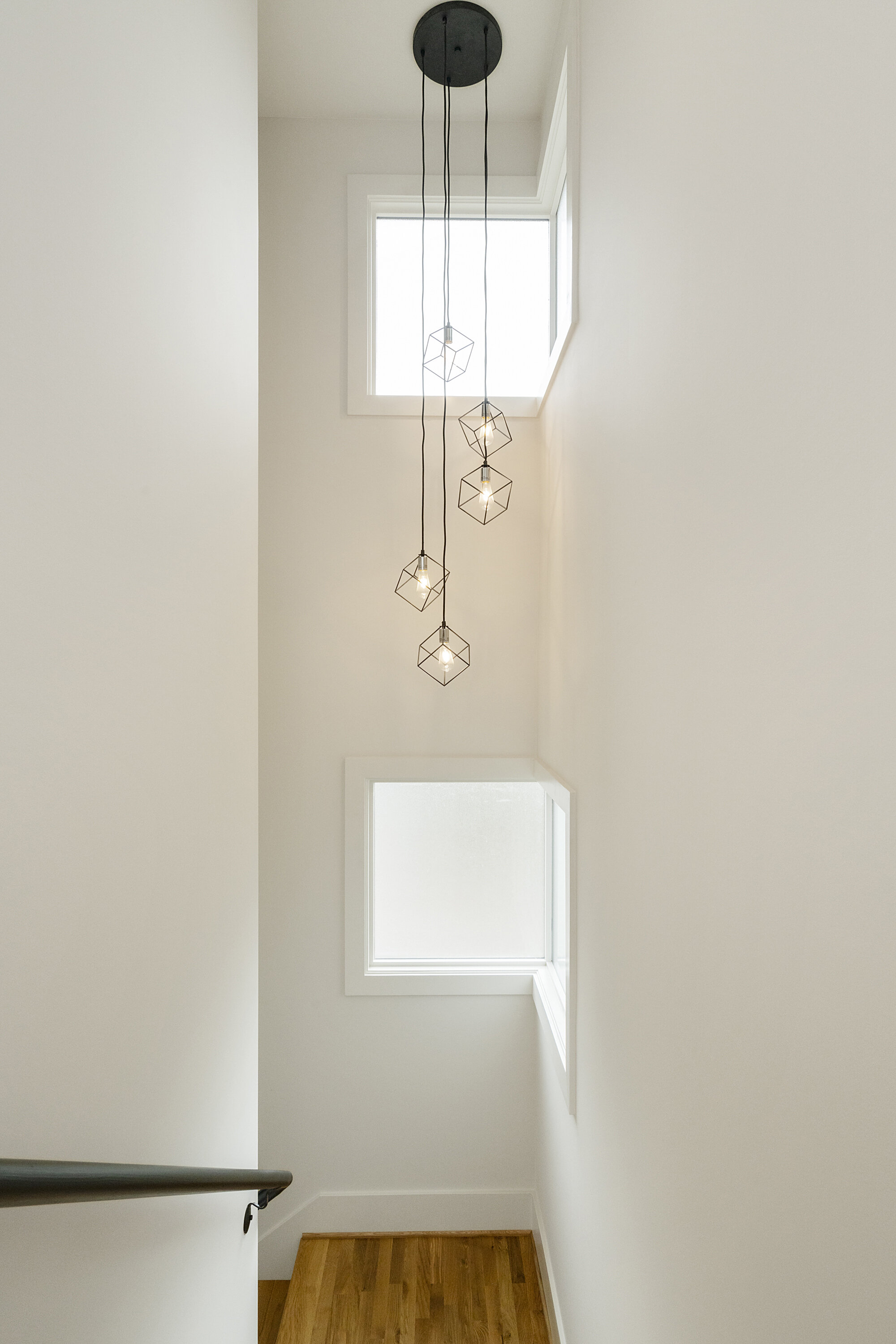 Light fixture in stairwell