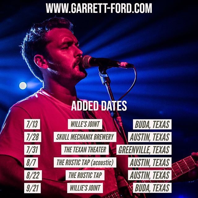 More dates at @therustictap @williesjoint @texan_theater_greenville @skullmechanix