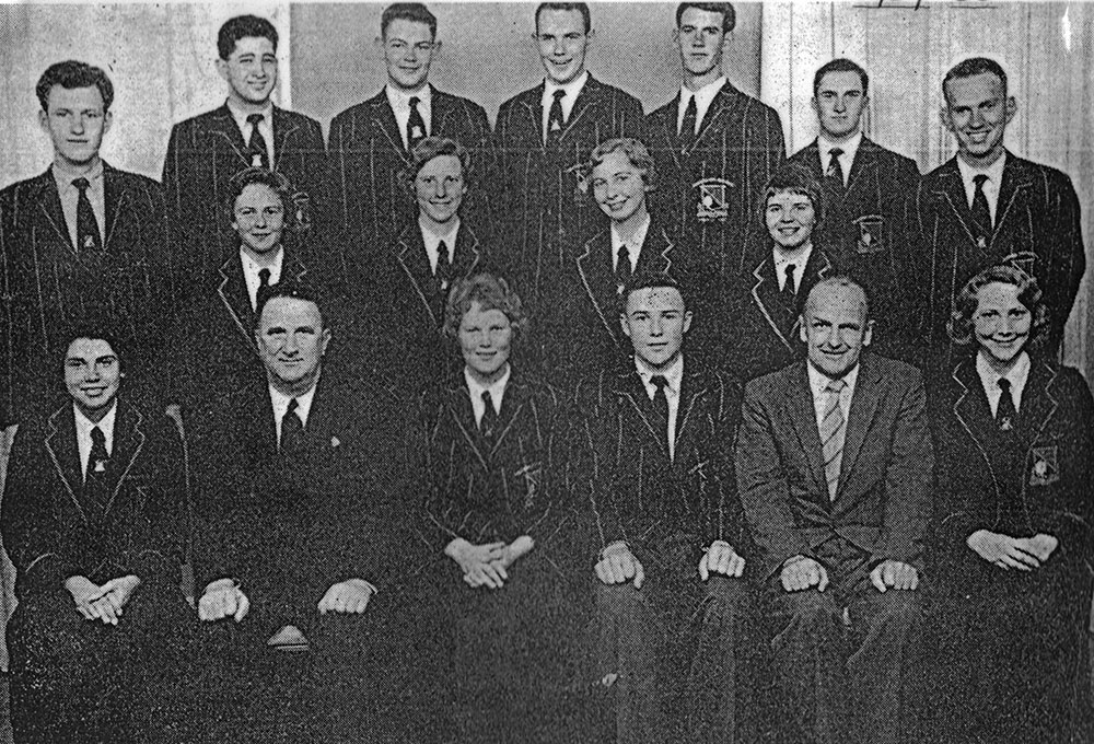 Mr. Bartholomew and Prefects - late 50's