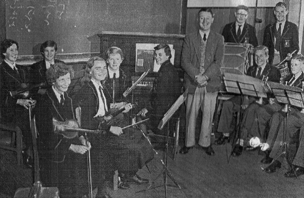Mr. Bullock and the 1957 TSHS Orchestra
