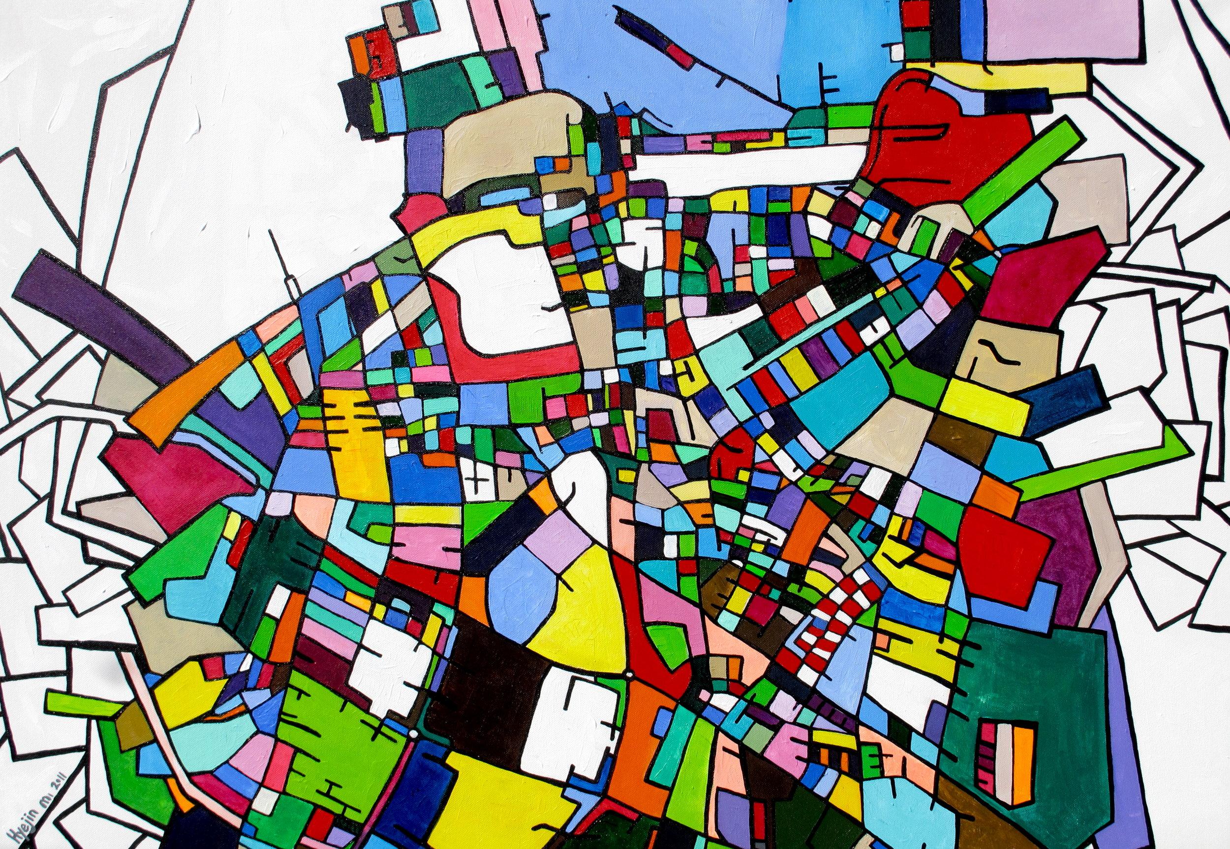 MALMO, 100 x 70cm, Acrylic on canvas