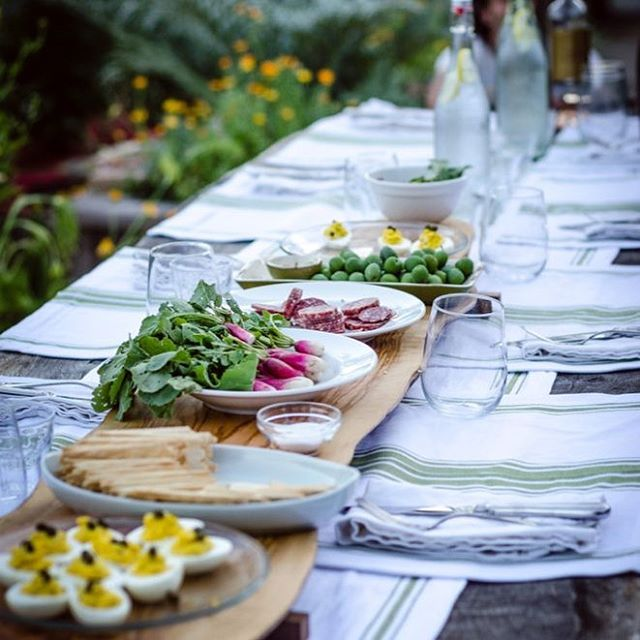 One of our summer dinners in the garden...there's just something ineffable about eating what you grew, right where you grew it. . . . . #ladolcevita #summervibes #outdoordining #outdoorliving #farmtotable #foodandwine  #dinnerparty #ediblegarden #ediblelandscape #ediblelandscaping #kitchengarden #growwhatyoueat #eatwhatyougrow #foodgarden #backyardgoals #garden #gardens #gardendesign #gardendesigner #gardenlife #gardenlove  #plantsmakepeoplehappy #eathealthy  #sosunset #marinstyle #marindesign #marindesigner #maringardendesign #marinmagazine