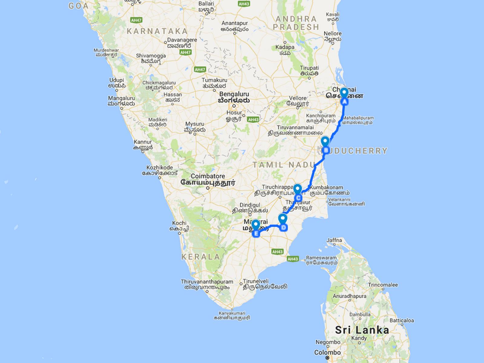 custom trip to tamil nadu, south india