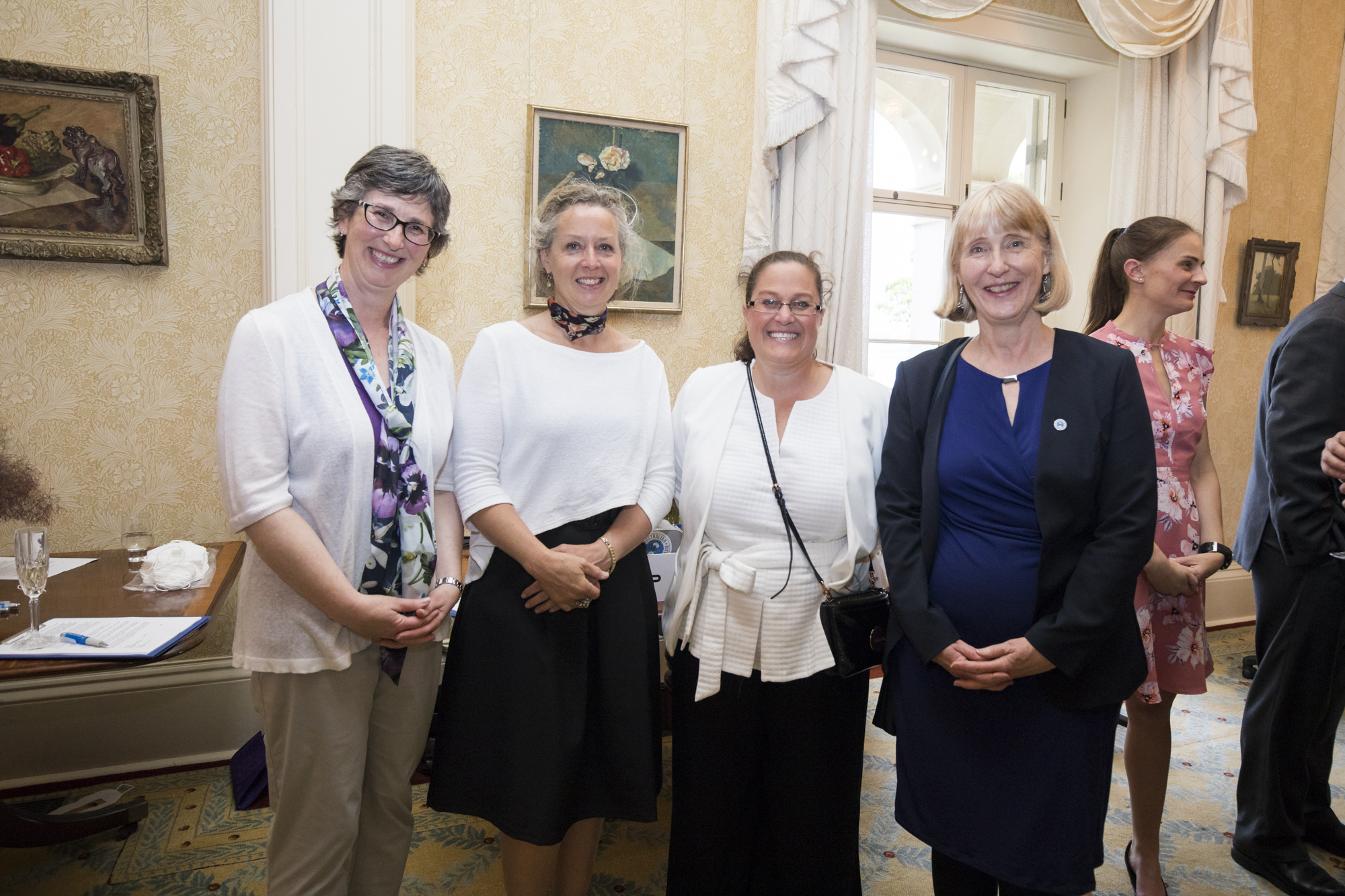Carol Daicic, from Corrs, Chambers and Westgarth Lawyers and Australian Antarctic Division Chief Scientist Dr Gwen Fenton with Alison Johannes and Jacqui Allan from the Australian Antarctic Division