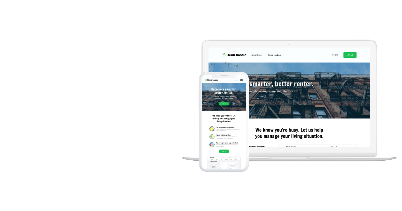 Rent-tastic - A responsive platform for renters