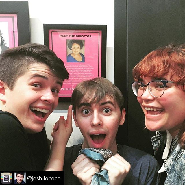 "Repost from @josh.lococo using @RepostRegramApp - The Martine Kei Green-Rogers Fan Club had a lovely outing to see ""Sender"" at @denizentheatre tonight and fun was had by all. Also these two are some of the best friends I will ever have and I love them so much. Kthnxbye."