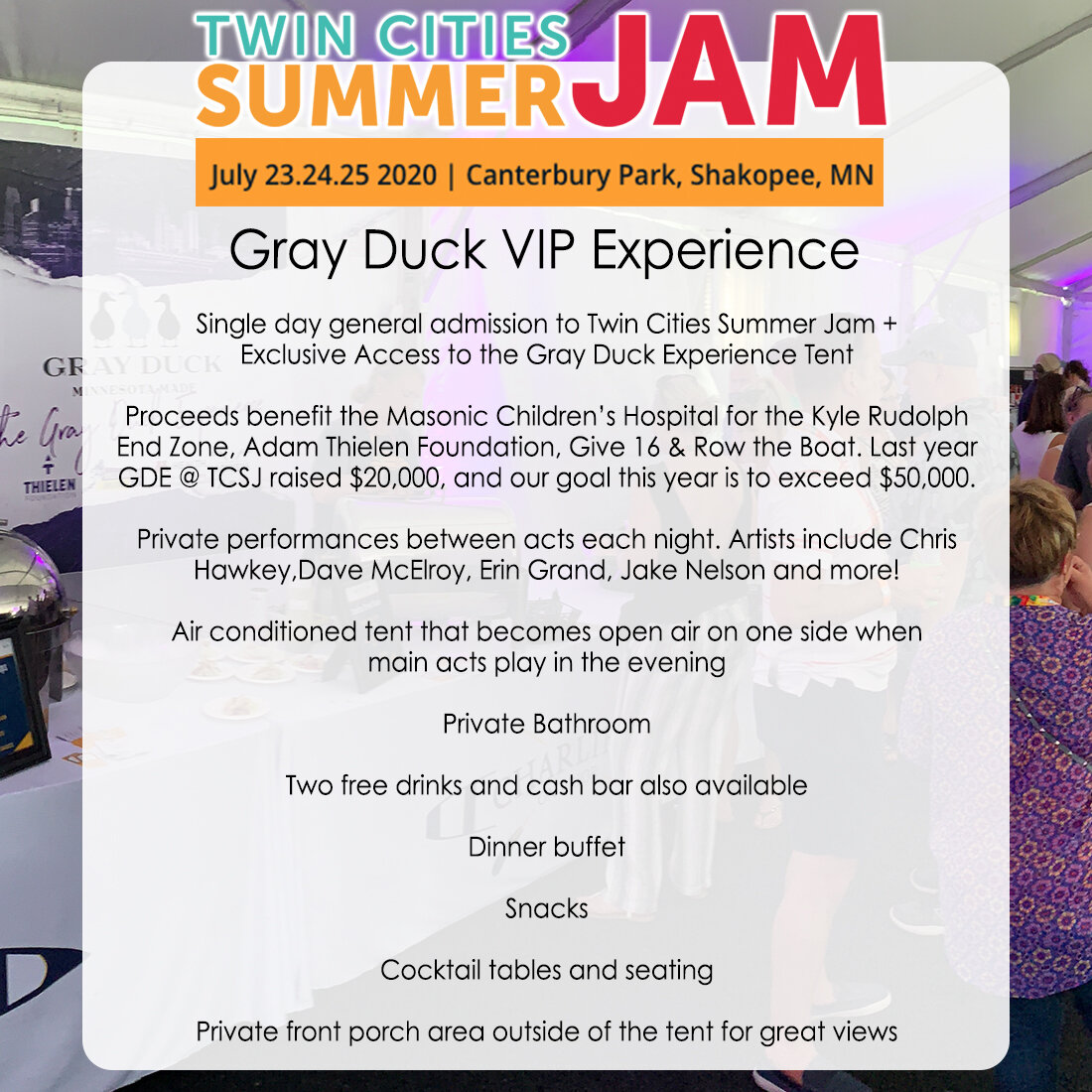 When Is Summer Jam 2020.Twin Cities Summer Jam Gray Duck Vodka Get The Duck Out