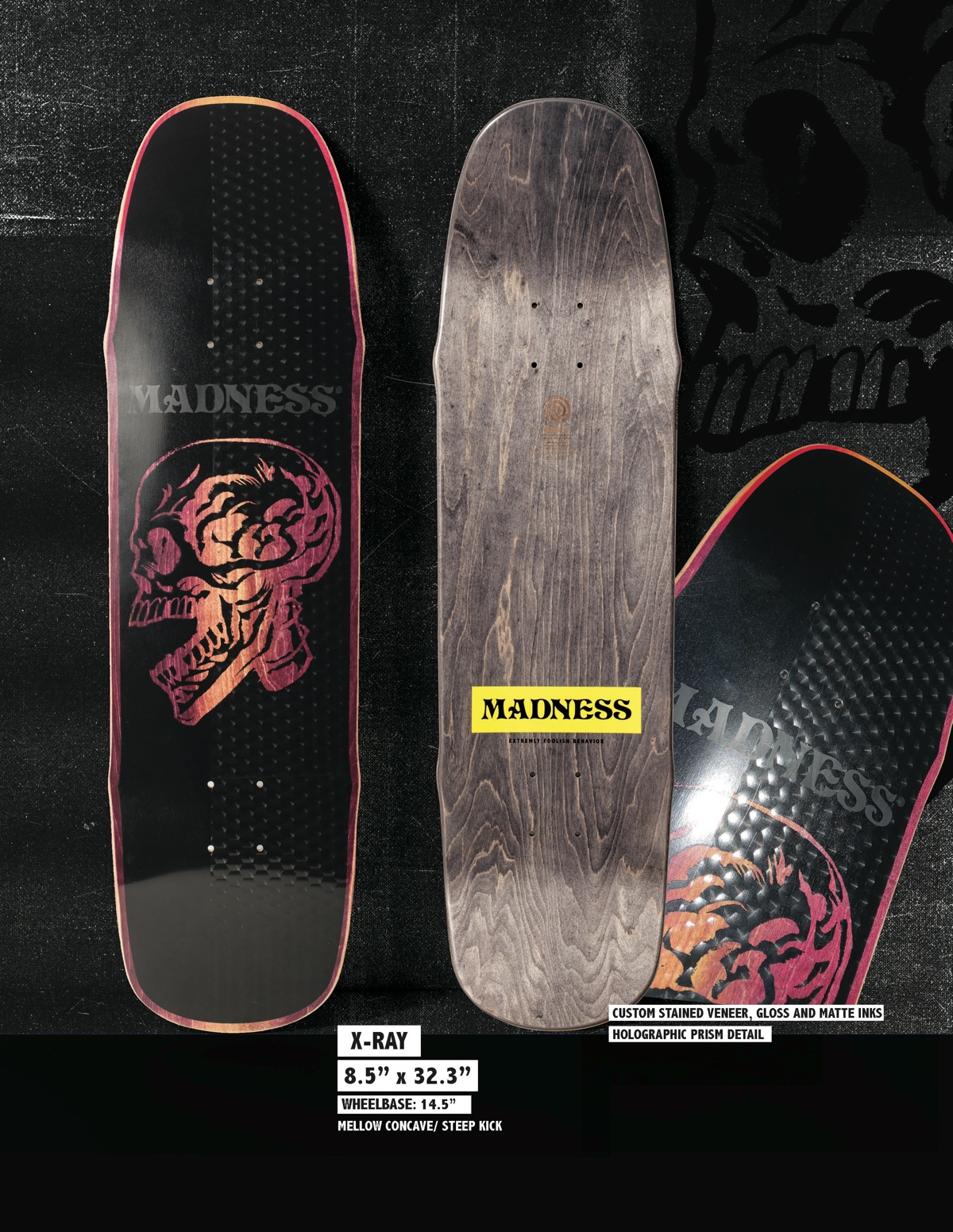 Copy of MADNESS X-Ray 8.5 R7 Skateboard Deck