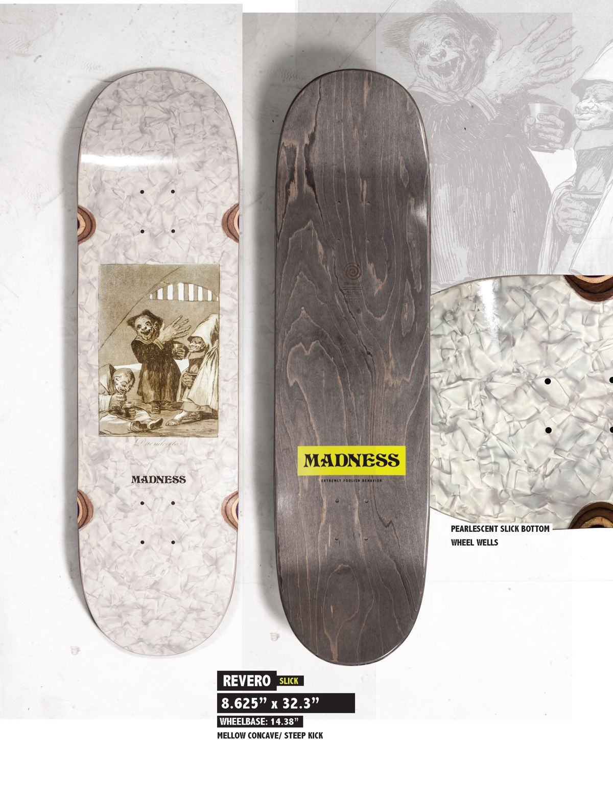 Copy of MADNESS Revero 8.625 R7 Skateboard Deck