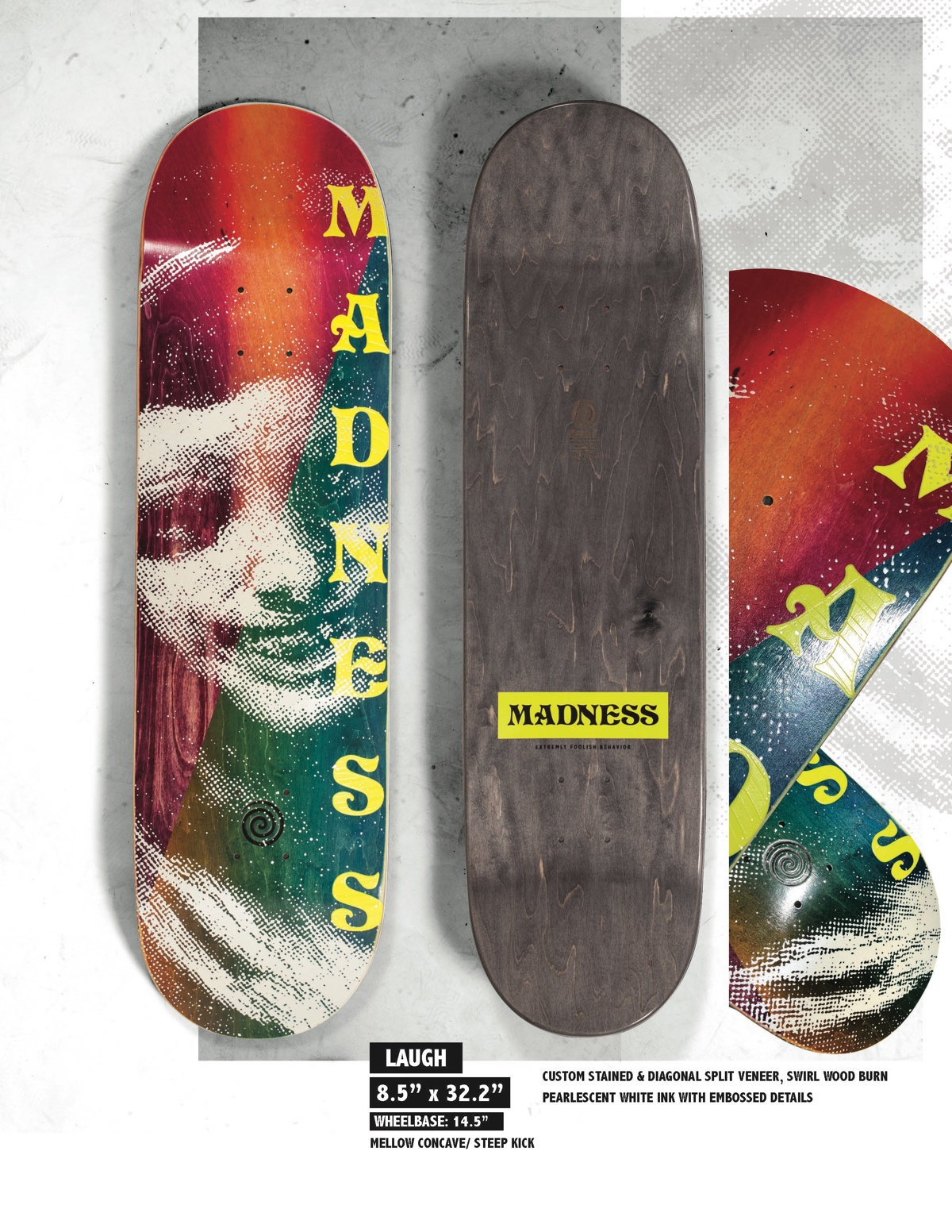 Copy of MADNESS Laugh 8.5 R7 Skateboard Deck