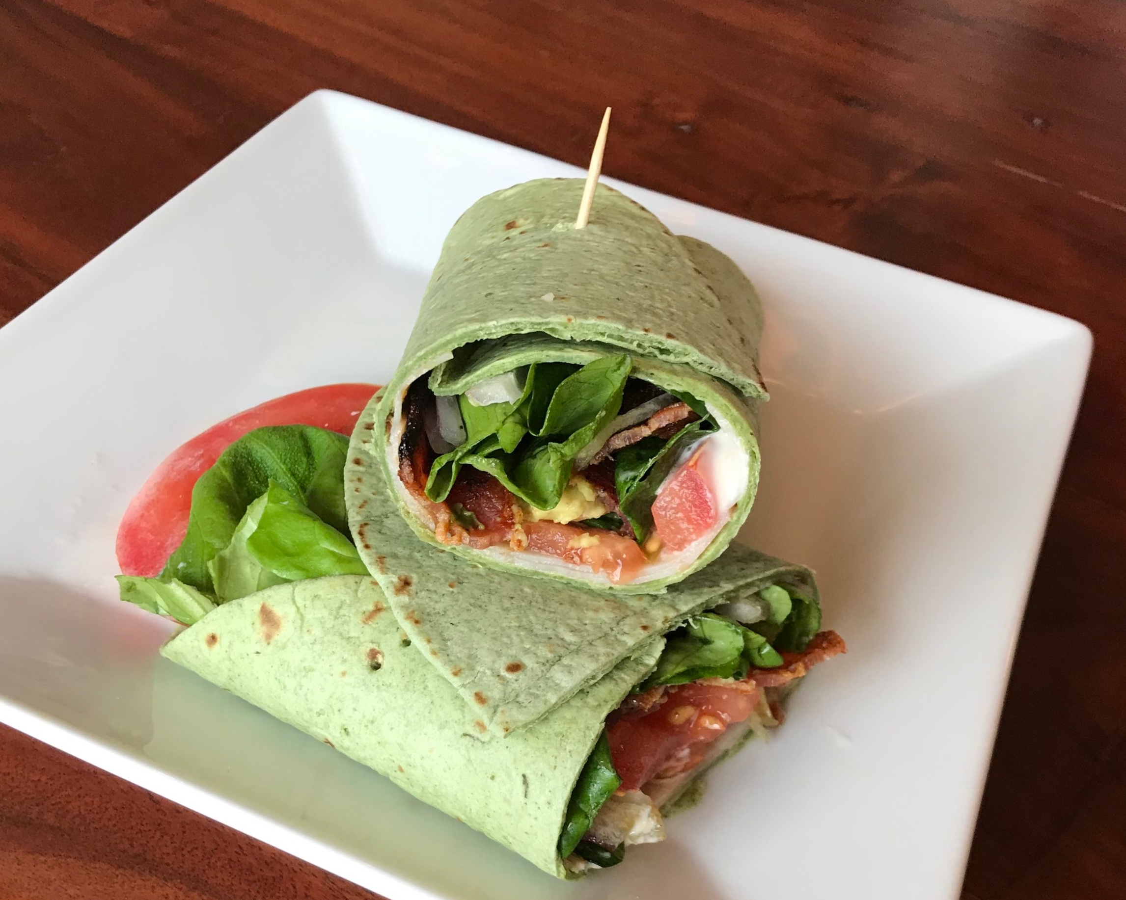 Turkey BLT wraps are a healthy lunch with flavor and crunch.