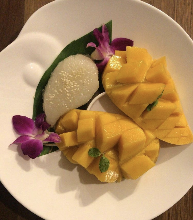Mango sticky rice, Chiang Mai, Thailand. I did not realize how delicious this could be!