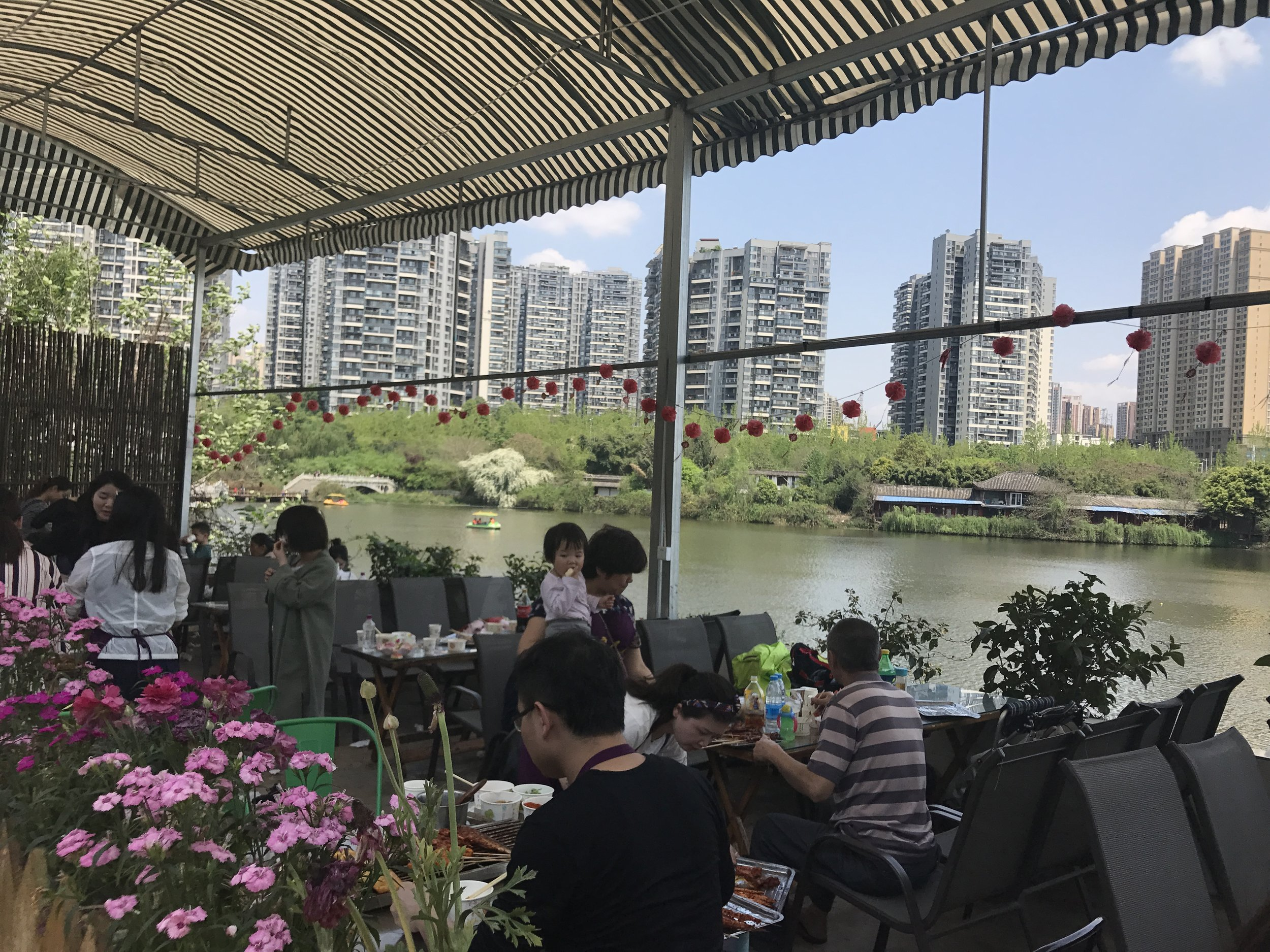 restaurant in Flower Town, Chengdu, China