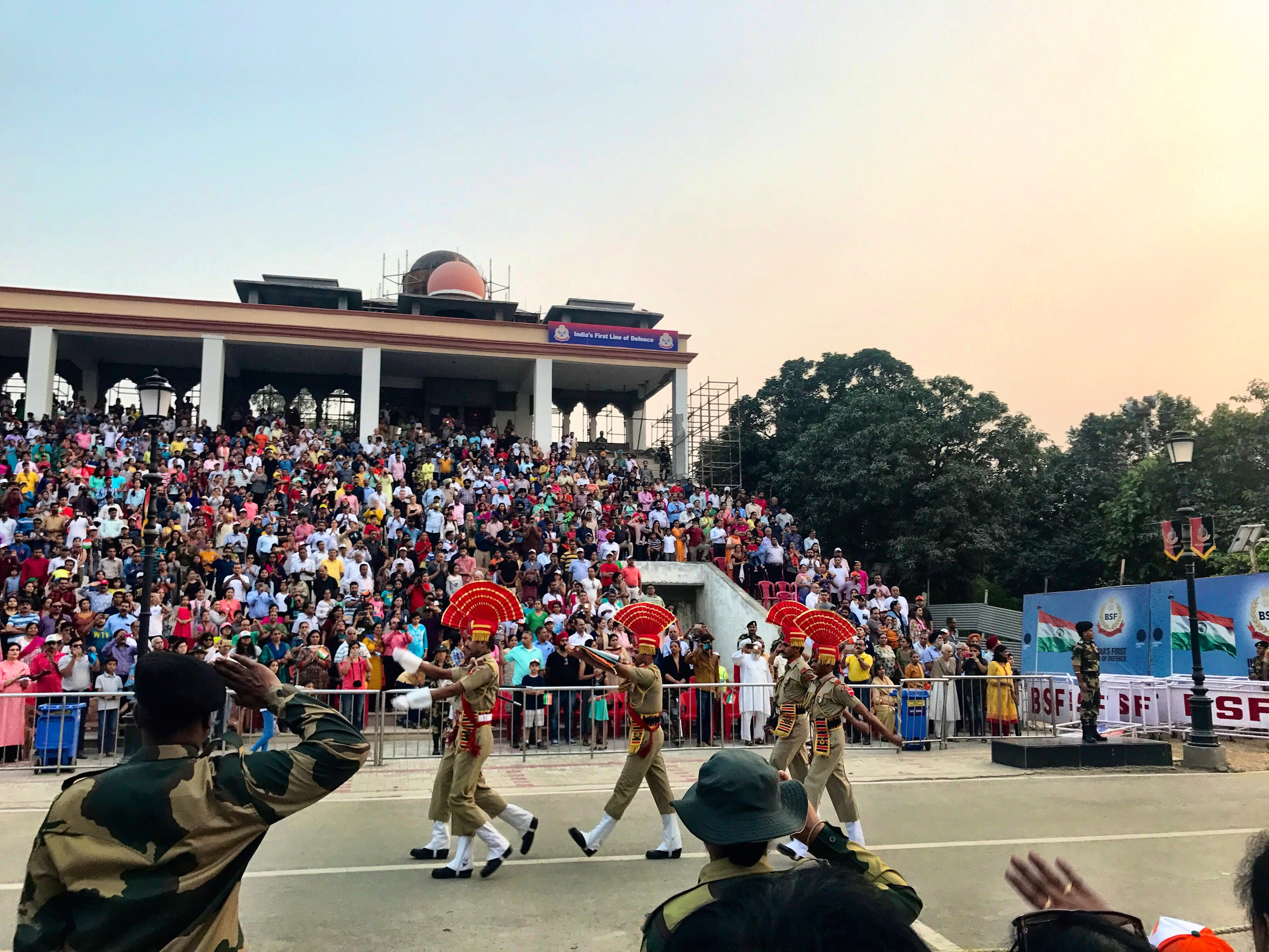 Wagah border ceremony, Punjab, India