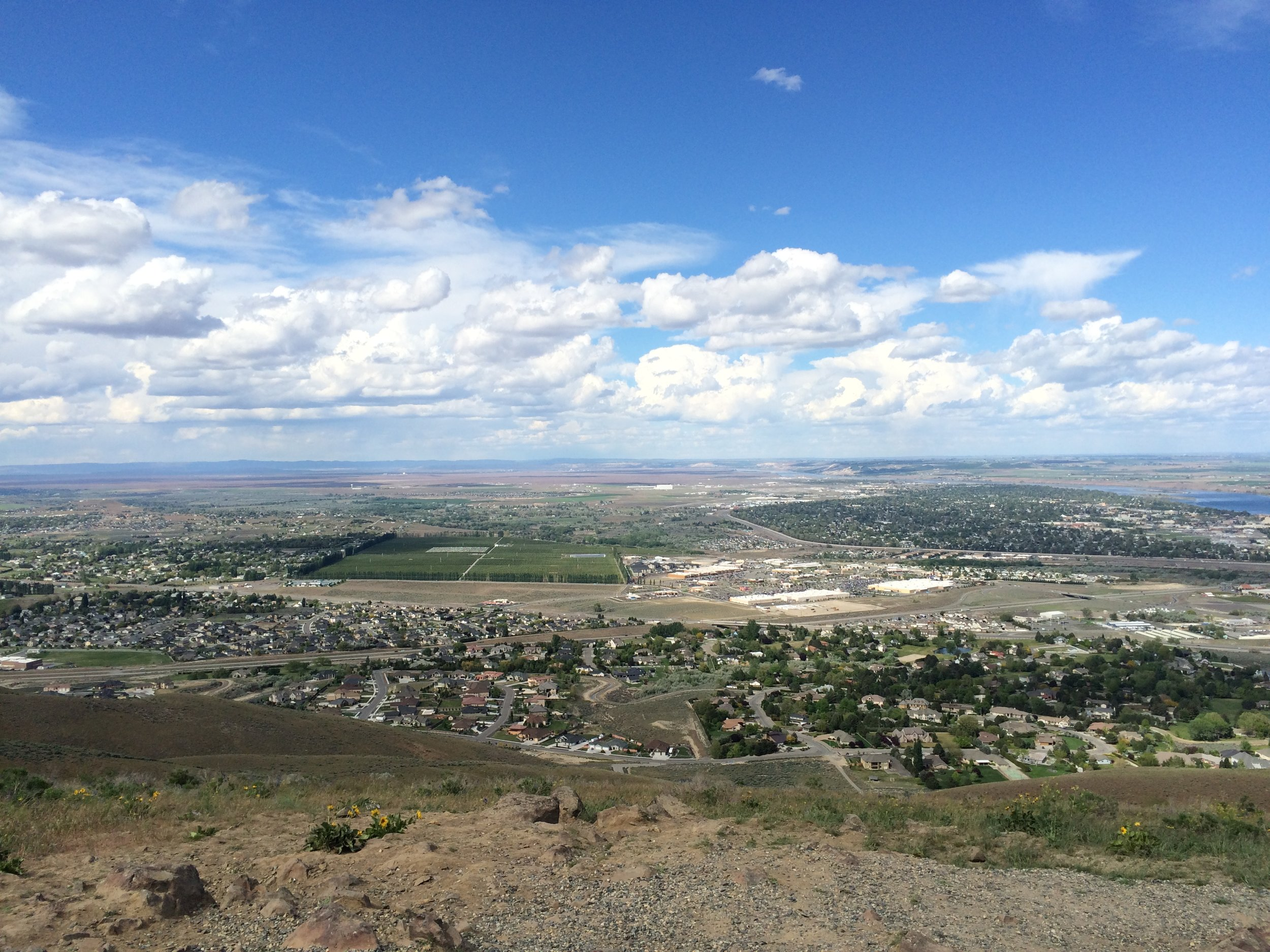 view from Badger Mountain, Richland, WA, USA