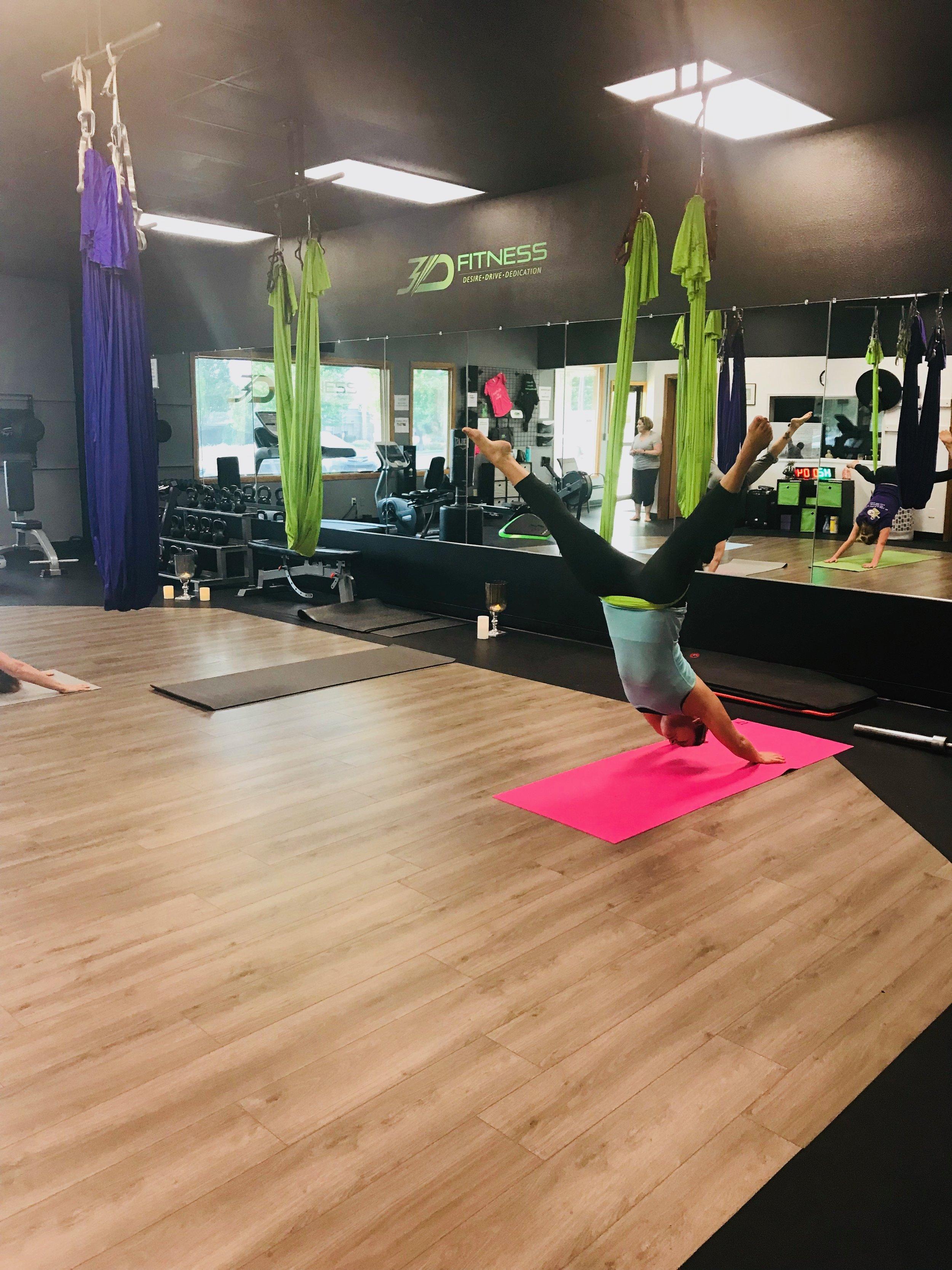 silk hammock yoga @ 3D-Fitness, Kennewick, WA